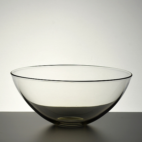 g4160-100-1 φ12.8x5.4手吹き縁青ラインガラス鉢