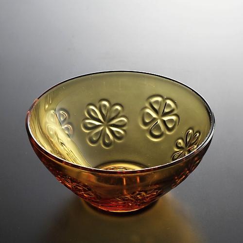 g4162-40-1 φ11.5x5.3茶花柄ガラスボール