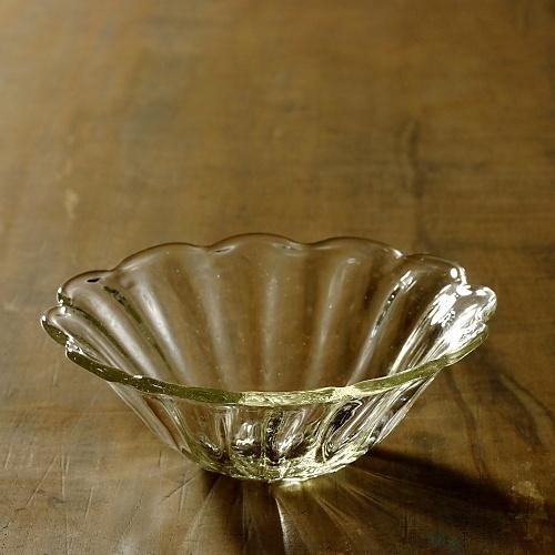 g4165-90-2 φ14.0x5.0花形ガラス鉢 左藤 玲朗