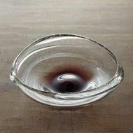 g4171-90-1 15.0x13.7x4.5吹きガラス三角鉢 紫
