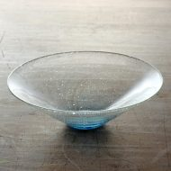 g4175-110-1 φ19.7x6.0泡ガラス底水色鉢