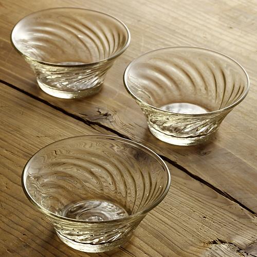 g4179-75-3 φ10.3x4.7型吹きアメ色ガラス小鉢(左藤 玲朗)