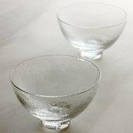 g4199 エンボスガラス鉢クリアー (スガハラガラス)