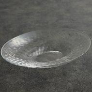 g4211 モール楕円ガラス大鉢(河上智美)