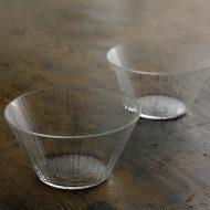 g4214 ゆらぎライン透明ガラス鉢(小林裕之)