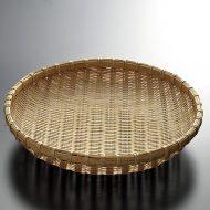 k1019-35-1 φ27.0×6.0竹盆ざる中大9寸