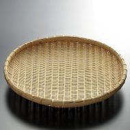 k1020-40-1 φ27.0×4.5竹盆ざる9寸浅型
