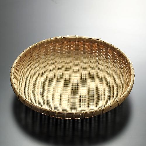 k1023-70-1 φ33.0×6.5竹盆ざる尺一