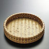 k1025-120-1 φ24.4×4.5丸縁高竹菓子鉢