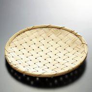 k1035-30-1 φ22.0太幅竹盆ざる(足つき)