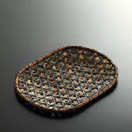 k1073-100-1 24.3×18.8虎竹亀甲編み小判平ざる