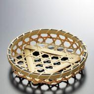 k1102-5-1 φ12.5×2.5亀甲編み白竹小かご