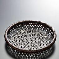 k1115-25-1 φ16.2×3.0茶塗丸ざる