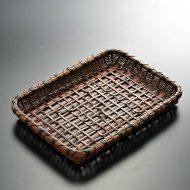 k1142-90-1 29.0×21.0×3.5長角浅赤茶かご