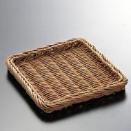 k2002-15-2 15.0×15.0茶角かごトレー