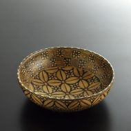 k3042-70-1 17.5×17.3×5.3アフリカ 花模様木製ボール