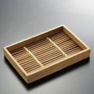 k3048-10-1 18.3×12.2×2.5中華風竹ミニトレー