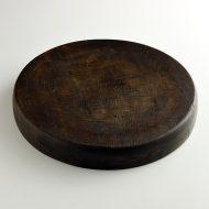 k4022-100-1  φ32.5×4.8こげ茶厚手木製丸まな板