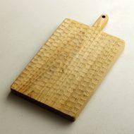 k4037-300-1 28.2×15.0×1.7ノミ彫りカッティングボード(小沢賢一)