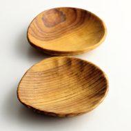 k4503-20-1 13.6x12.5x2.3木製皿小