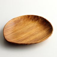 k4504-35-1 18.5x15.8x2.2木製皿大