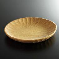k4510-90-1 23.7x20.2x2.5縁なみ楕円木製皿