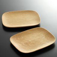 k4520-75-2 15.3x12.3木製長角盛り皿 小