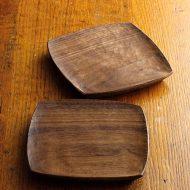 k4529-85-2 13.3x13.5x1.5ウォルナット角皿(山田哲也)