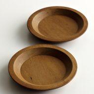 k4558-30-2 φ10.0赤茶木製ミニ皿