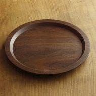k4576-100-1 φ20.0ウォールナット木製リム皿(ふじい製作所)