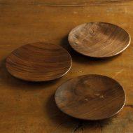 k4579-50-3 11.4x11.2木製丸三角小皿