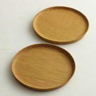 k4597 ナラ縁高卵型皿