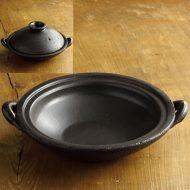 n1001-250-1  29.5×25.0×6.0黒つやなし浅土鍋