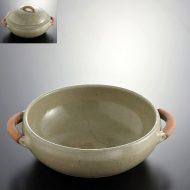 n1017-200-1 29.5×29.8×8.3淡緑土鍋