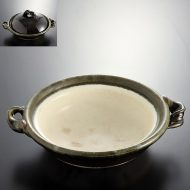 n1018-200-1 36.0×30.0×8.0緑釉捻り手土鍋