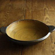 n1031-400-1 35.0×28.5×7.0内黄刷毛目土鍋
