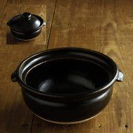 n1039-450-1 24.0×21.0×10.5濃茶ご飯土鍋