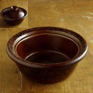 n1041-400-1 φ24.0×10.3飴色土鍋 一志郎窯
