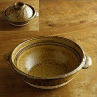 n1042-400-1 φ24.0×10.3薄茶土鍋 (小坂 明)