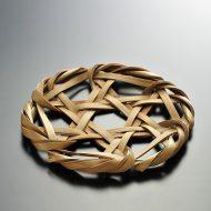n1045-60-1 φ16.0竹編み丸鍋敷き