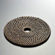 n1048-25-1 φ14.8茶編み鍋敷き