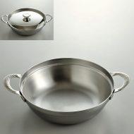 n1109-85-1 25.5x19.2x5.5ステン両手付鍋 小
