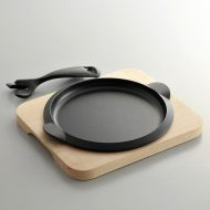 n1130-100-1 22.0x19.0ひとりステーキ丸鉄板