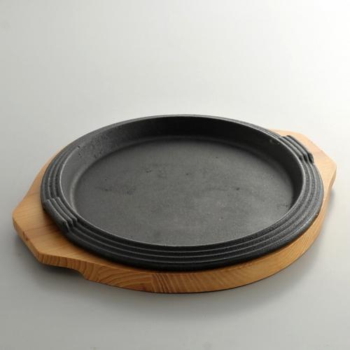 n1137-120-1 32.0x27.0チヂミ焼き丸鉄板
