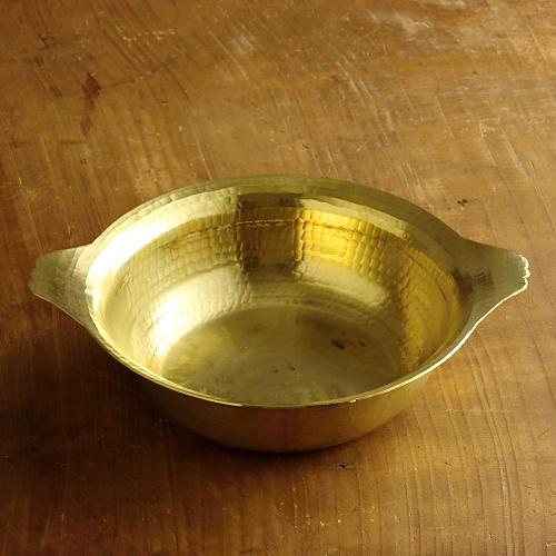 n1148-450-1 25.0x20.5x6.2有次 真鍮打ち出し鍋
