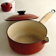 n1202 LE CREUSET 赤片手鍋