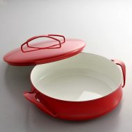 n1203-300-1 30.7x24.0x13.0赤ホーロー鍋