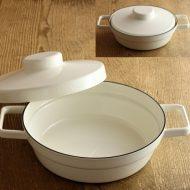 n1212 ROIESS 白ホーロー鍋