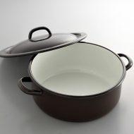 n1220-250-1 32.5x26.0x9.4RIESSホーロー茶鍋