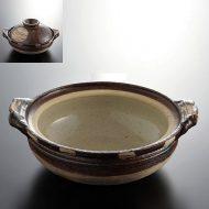 n1401-120-1 22.7×19.8×7.0茶満月土鍋